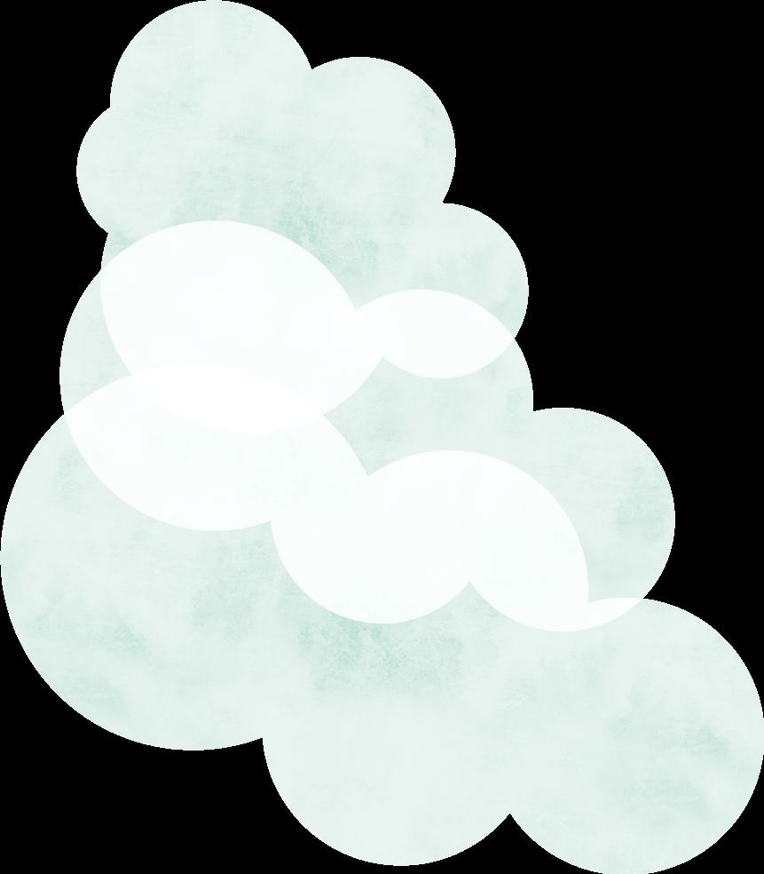 左の大きい雲
