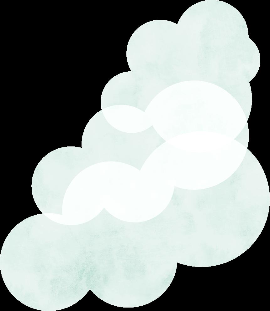 右の大きい雲